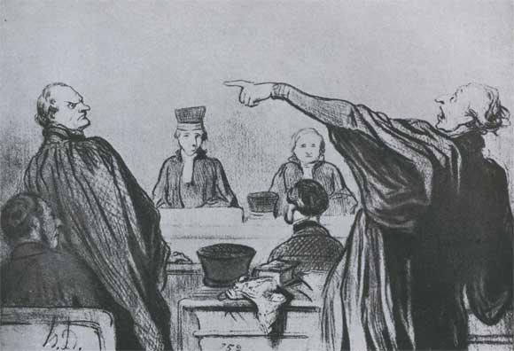 О домье адвокат которому хорошо