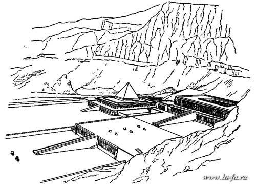 Храмы ментухотепа и хатшепсут в дейр